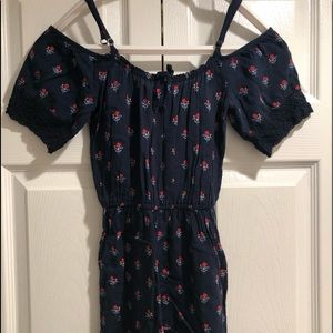 Abercrombie shorts printed romper